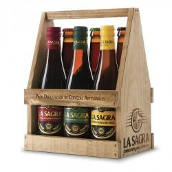 Sagra Cesta De Madera. Degustación Cervezas Sagra (6 Uds)