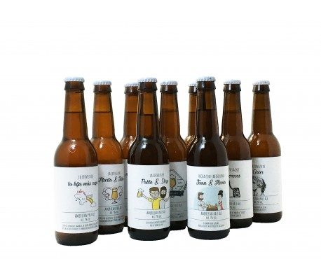 Cerveza artesana personalizada para regalar